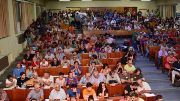 Imagen de la primera asamblea estatal de Ahora en Común