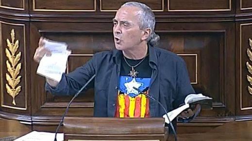 El Congreso renunciará a sancionar a Sabino Cuadra (Amaiur) por romper la Constitución si rectifica