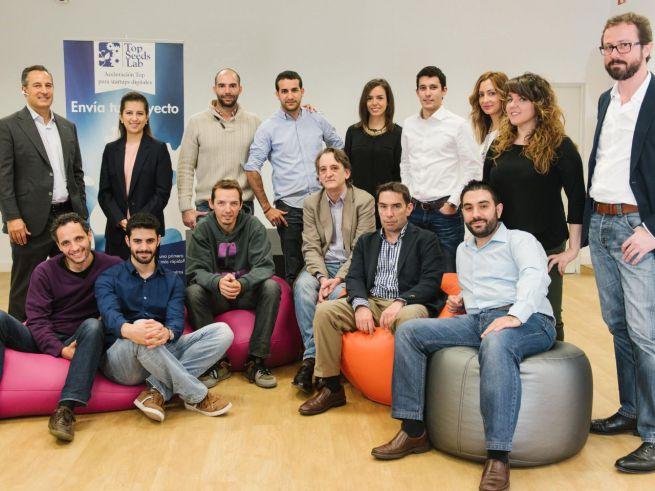 Equipo de Top Seeds Lab y algunos CEOs de las startups impulsadas por la aceleradora