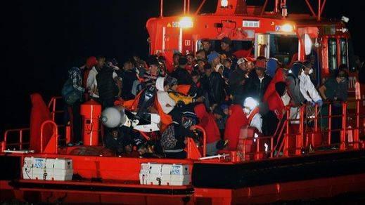 Rescatan a 188 inmigrantes de siete pateras en Almeria