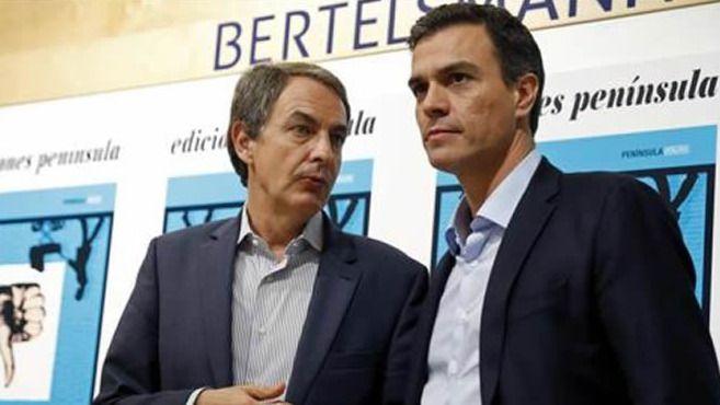 Pedro Sánchez le dice a Zapatero lo que Rajoy nunca le diría a Aznar: 'Siempre me he sentido respaldado por ti'