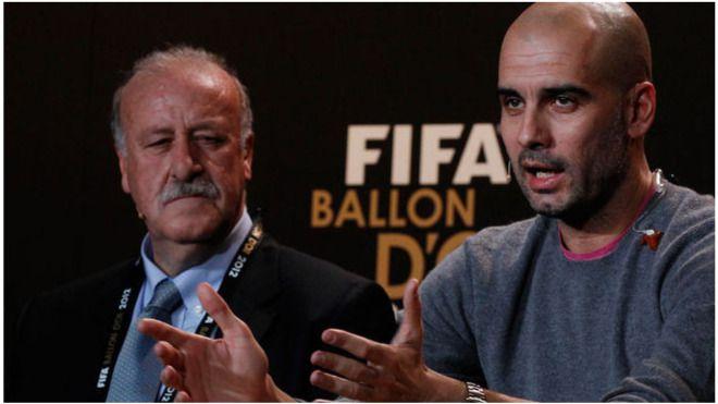 Guardiola piropea a su colega Del Bosque: 'El mejor para llevar la selección'