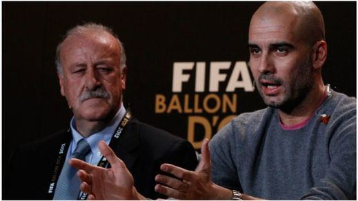 Guardiola piropea a su colega Del Bosque: