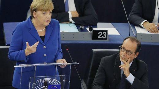 Merkel y Hollande alertan contra el nacionalismo y defienden una mayor integración europea