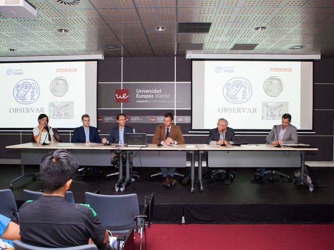 De izq a dcha: Lourdes Carmona, Carlos Sent�s, Javier L�pez Seisdedos, Luis Calandre, Fernando J�uregui y Ra�l del Pozo