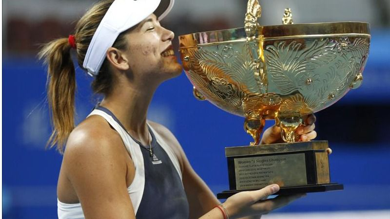 Garbiñe Muguruza, 'emperatriz' en Pekín tras ganar la final a Bacsinszky