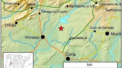 Registrado un terremoto en Cáceres