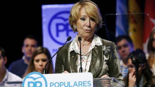 Aguirre afirma que el PSOE lidera la