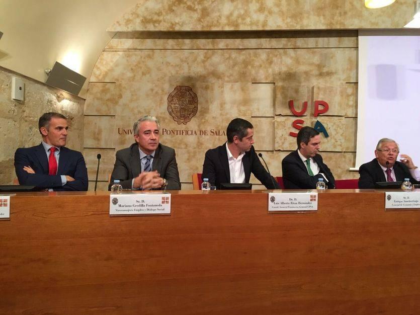 De izq a dcha: Víctor Lajo, Mariano Gredilla, L. Alberto Rivas, Enrique Sánchez-Guijo y Fernando Jáuregui