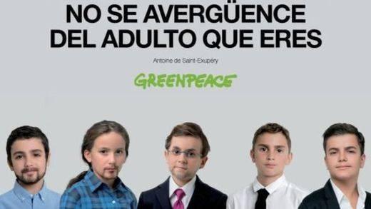 Greenpeace convierte a los líderes políticos en niños para su nueva campaña