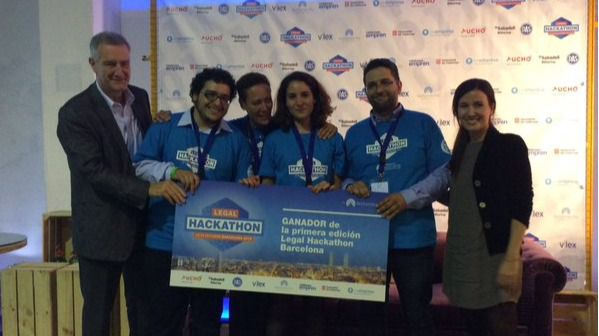 Una app que permite a un abogado saber en qué momento del proceso se encuentra, ganadora del Legal Hackathon Barcelona