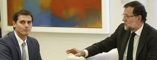 Química entre Rivera y Rajoy: el presidente estudiará el 'pacto por España' de Ciudadanos