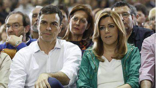 Susana Díaz 'corrige' el programa electoral de Pedro Sánchez para incluir la derogación total de la reforma laboral