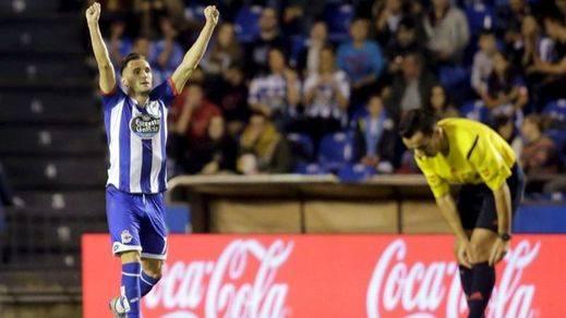 Lucas Pérez impide al Atlético viajar a Kazajistán como líderes y salva un punto para el Depor (1-1)