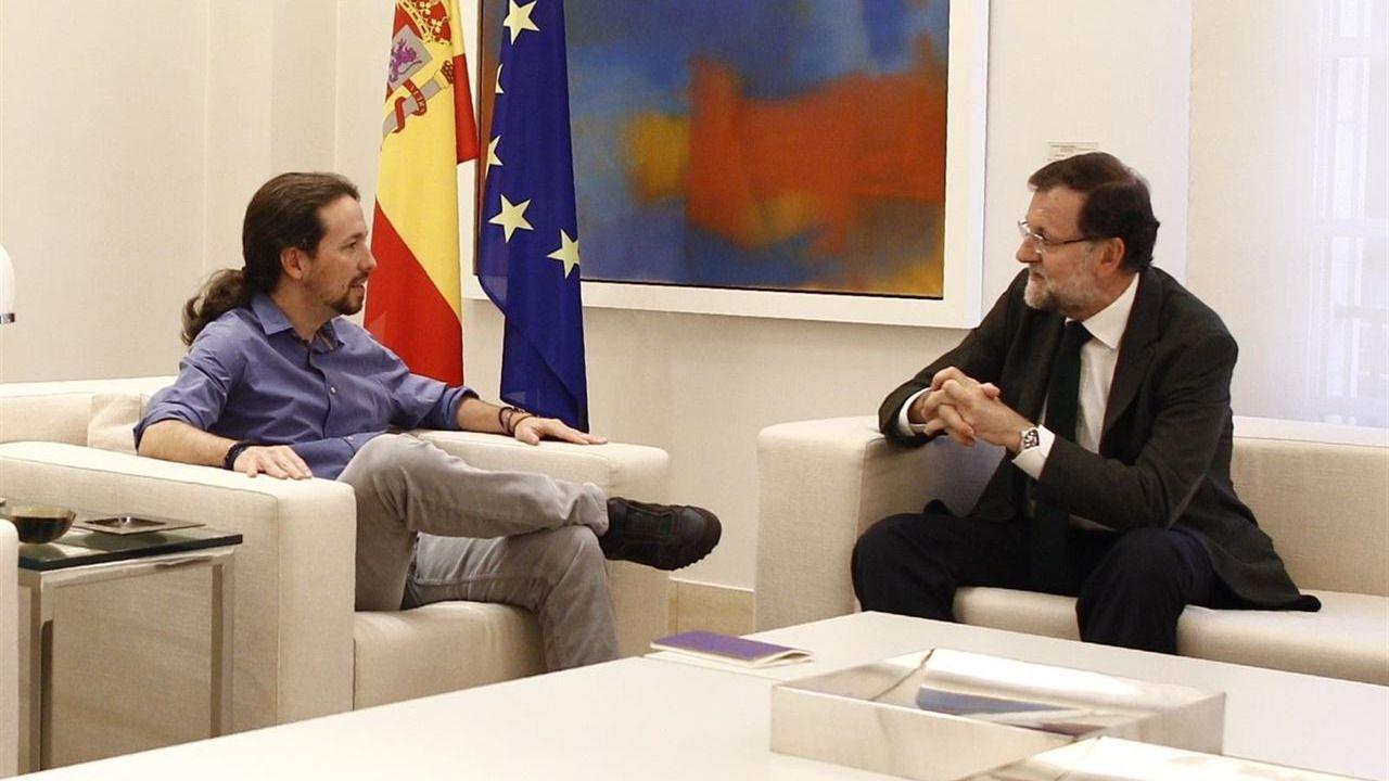 Desencuentro en La Moncloa: Iglesias acusa a Rajoy de estar 'bunkerizado' sobre Cataluña