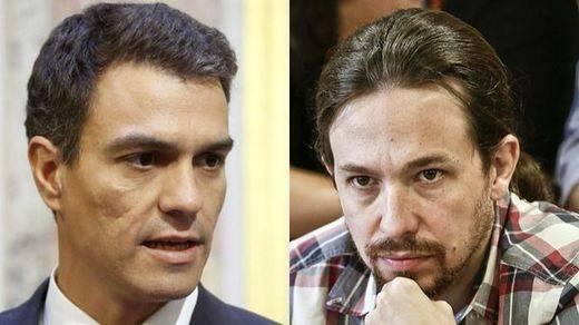 Sánchez e Iglesias coinciden por teléfono en criticar la falta de soluciones de Rajoy para Cataluña