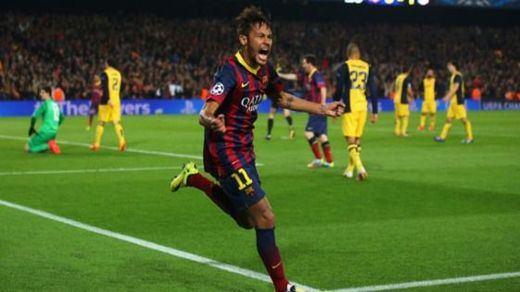 Neymar celebra el gol que marcó ya en Borisov