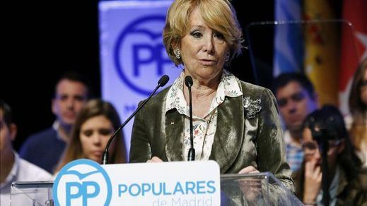Esperanza Aguirre ingresó 126.231 euros en 2014, según su declaración de transparencia