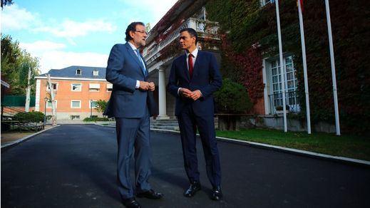 Rajoy y Pedro Sánchez celebran una cumbre para buscar cómo parar unidos a Cataluña