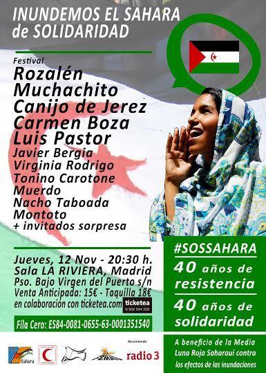 Conciertazo de grandes artistas de nuestra música para inundar el Sahara de solidaridad