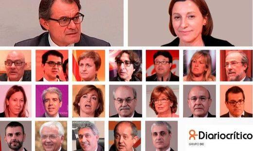Los 21 políticos señalados por el Gobierno en su recurso contra la independencia en Cataluña