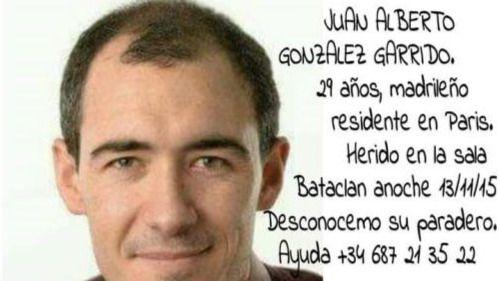 El Gobierno confirma que el español Juan Alberto González Garrido murió en el ataque a la sala Bataclan y que hay otro herido