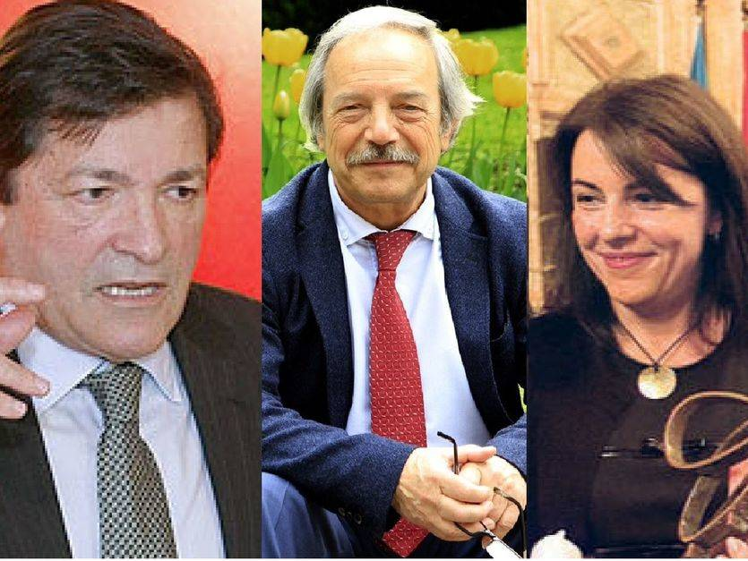 Javier Fernández, Wenceslao López y Ángeles Rivero