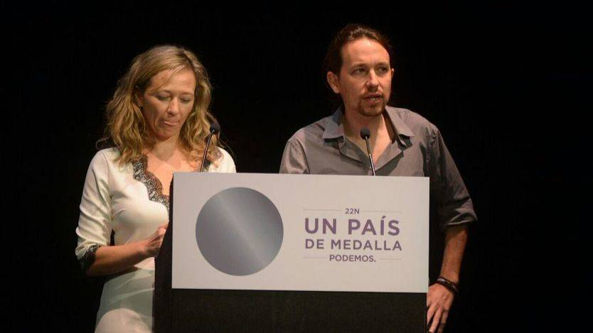 Pablo Iglesias junto a Victoria Rosell