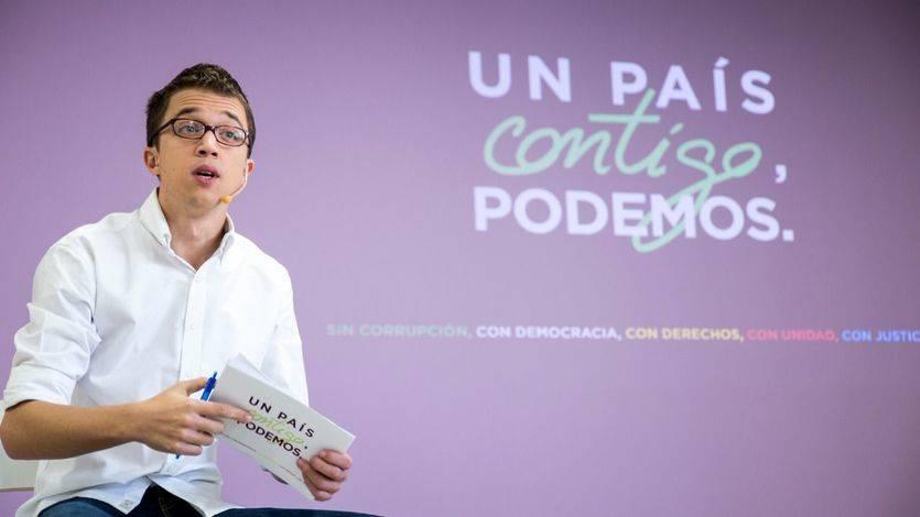 El jefe de campaña, Íñigo Errejón, presenta el lema oficial