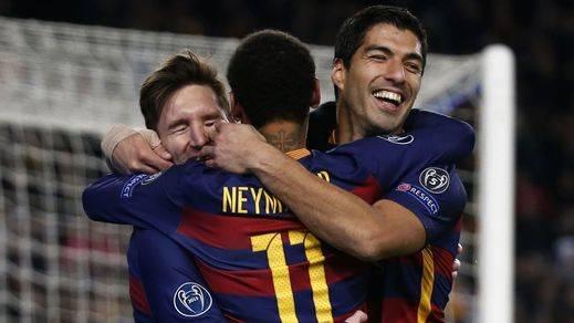 La fiesta del Barça siguió tras el Bernabéu con un 6-1 a la Roma