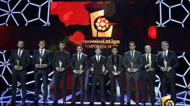 Messi tambi�n fue la estrella de los Premios de la Liga: mejor delantero y mejor jugador