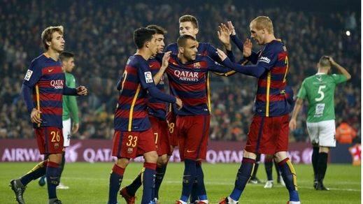 Copa del Rey: los suplentes del Barça se entrenan con el Villanovense al que le hacen un set (6-1)