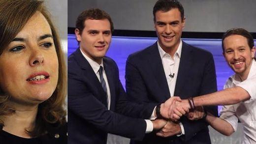La vice Santamaría calienta el debate del lunes con Sánchez, Iglesias y Rivera:
