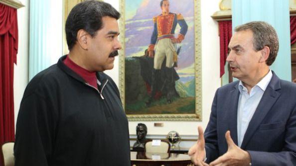 Maduro recibe al 'observador' Zapatero en v�spera de unos comicios transcendentales