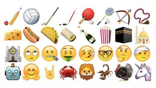 'Gafapasta', pensativo, enfermo, unicornios: así son los nuevos emoticonos de Whatsapp