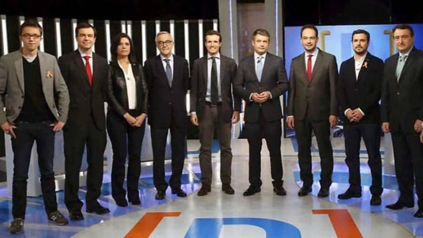 Garzón y Errejón lideraron y animaron un debate 'eterno' de todos contra todos