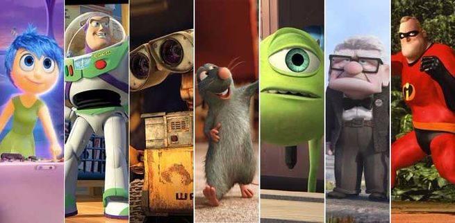 Los 10 mejores personajes de Pixar