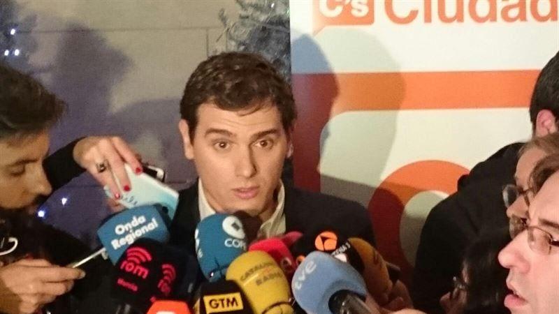 Albert Rivera, hoy, en Murcia.