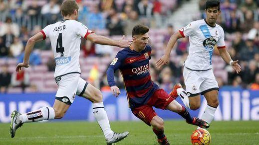 Los de Luis Enrique se duermen y desaprovechan un 2-0 en el Camp Nou frente al Depor (2-2)
