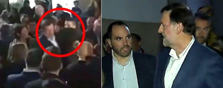 Agresión a Rajoy: un joven le rompe las gafas en un paseo electoral en Pontevedra