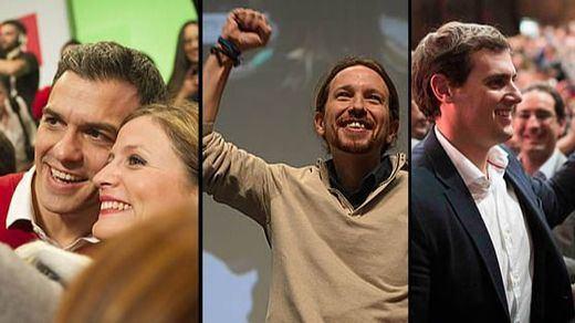 Así cerrará cada partido la campaña electoral más reñida de los últimos tiempos: PP, PSOE, Podemos, Ciudadanos, IU...