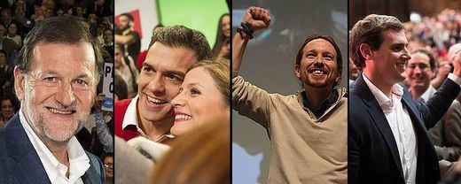 A un día de las urnas, a los candidatos no les salen las cuentas... salvo a Pablo Iglesias