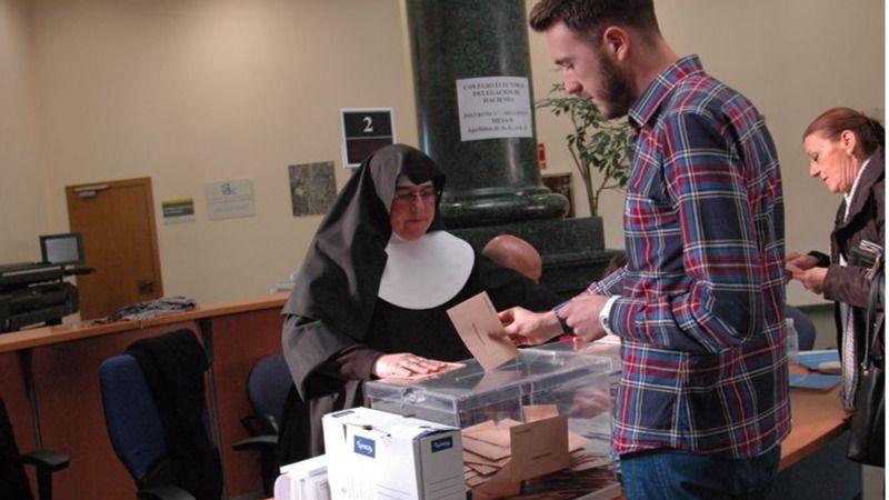 Anecdotario del 20-D: una monja presidió la mesa electoral de un colegio de Teruel