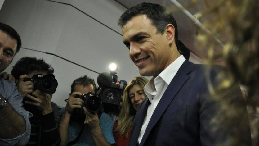Pedro Sánchez en la noche electoral