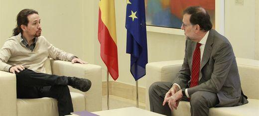Rajoy y Pablo Iglesias duran juntos en Moncloa el doble de tiempo que en la cita con Pedro Sánchez
