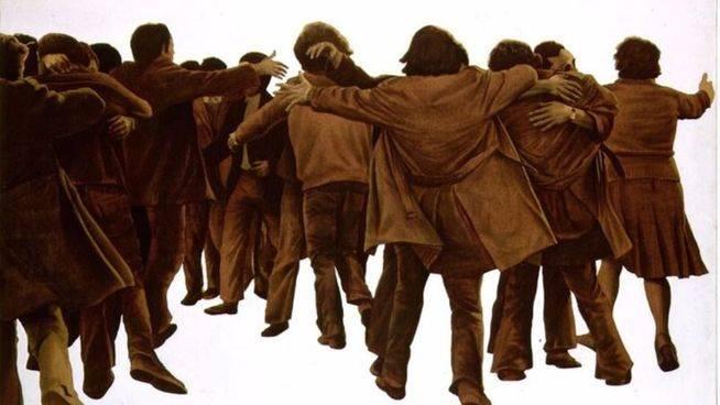 'El abrazo', un símbolo de la Transición que llega a un Congreso convulso