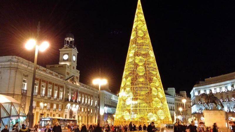 Máxima seguridad anti-atentados en la Puerta del Sol madrileña durante la Nochevieja