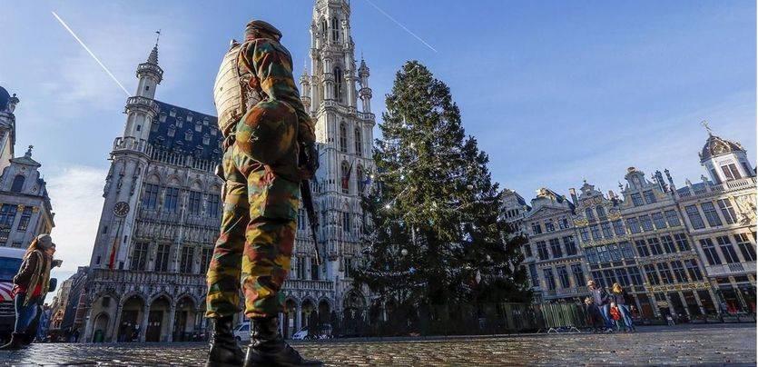 La Policía vigila Bruselas