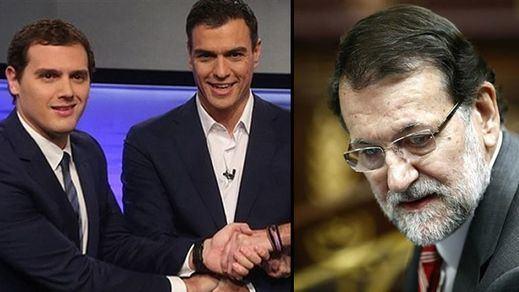 Fin a una tensa semana de silencio de Rajoy, Sánchez y Rivera