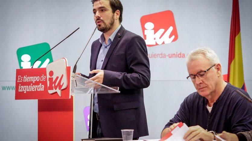 Alberto Garzón y Cayo Lara este sábado en la reunión del Comité Federal de IU.